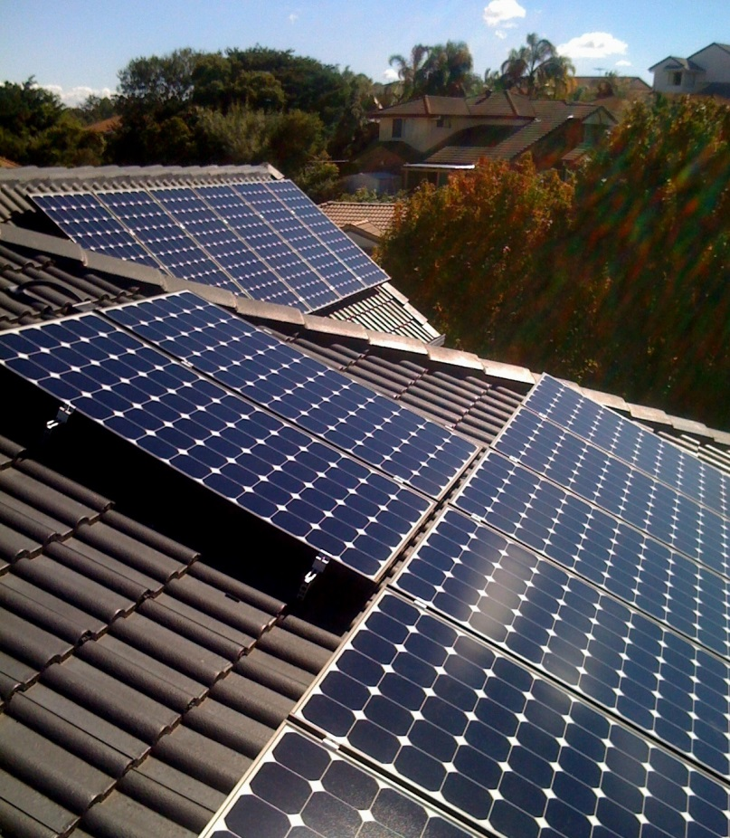 large solar home installation